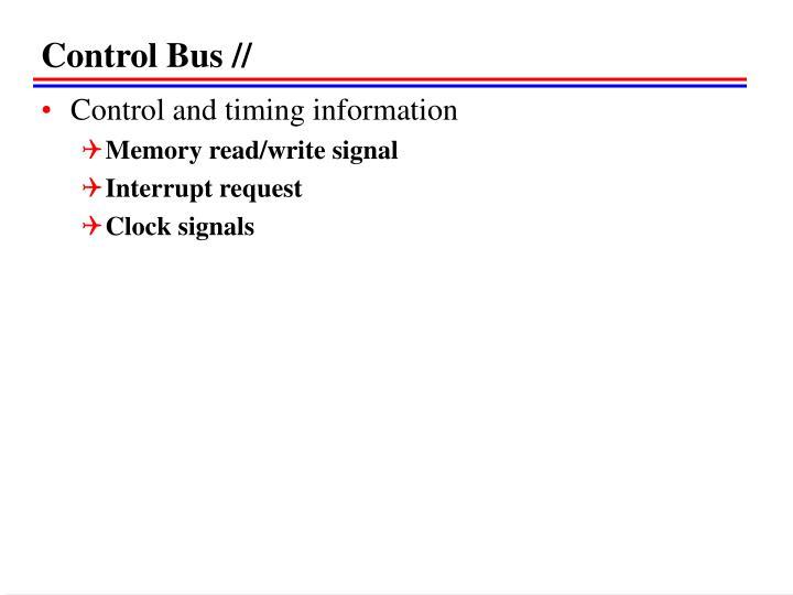 Control Bus //