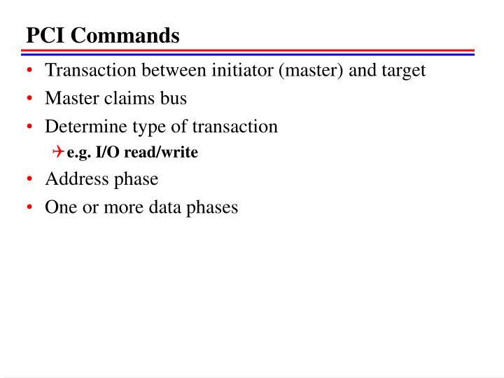 PCI Commands
