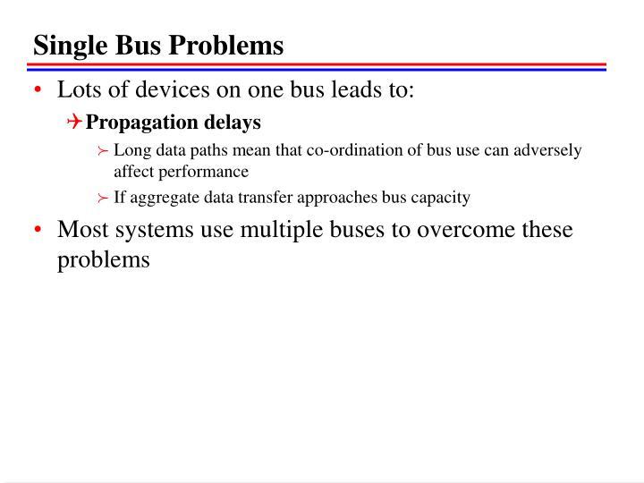 Single Bus Problems