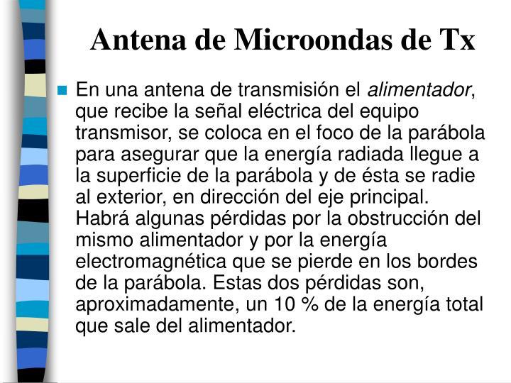 Antena de Microondas de Tx