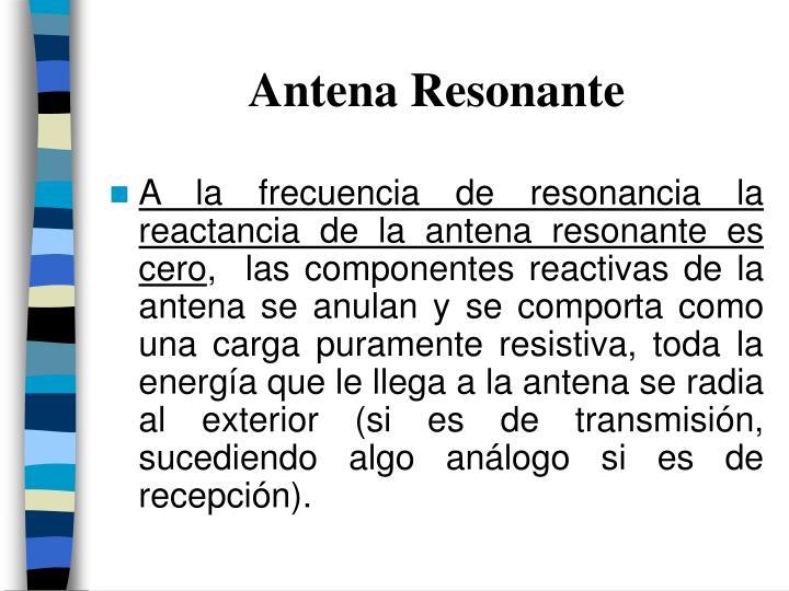 Antena Resonante