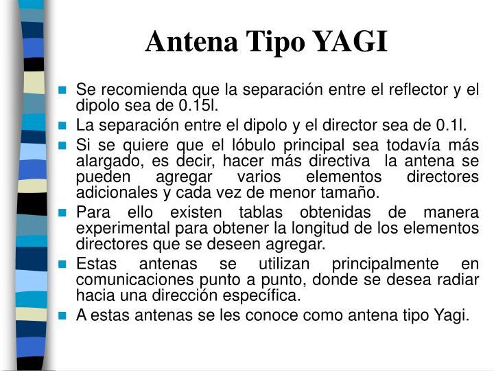 Antena Tipo YAGI