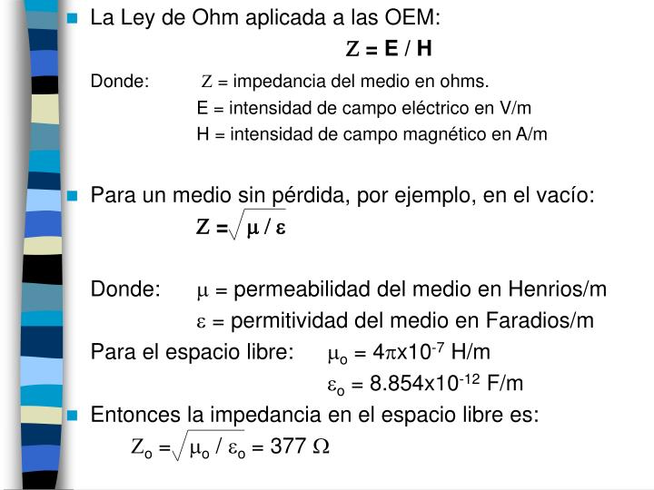 La Ley de Ohm aplicada a las OEM: