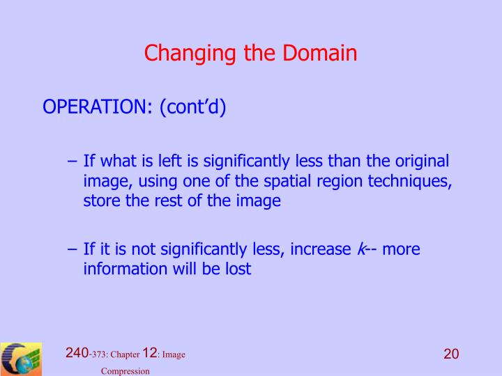 Changing the Domain