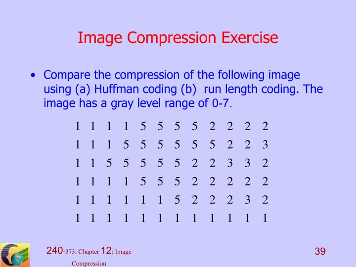 Image Compression Exercise