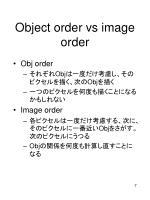 object order vs image order