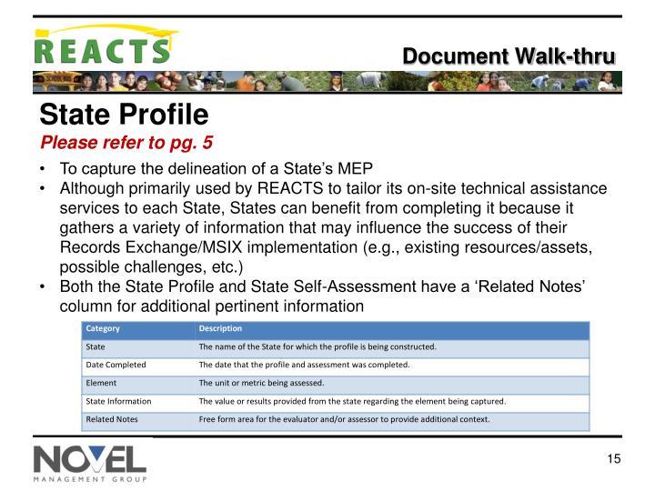 Document Walk-thru