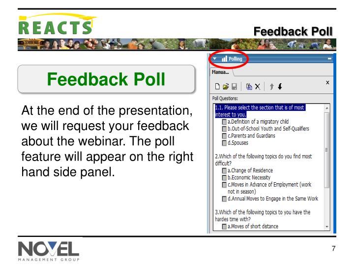 Feedback Poll