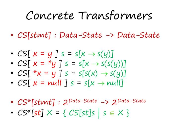 Concrete Transformers