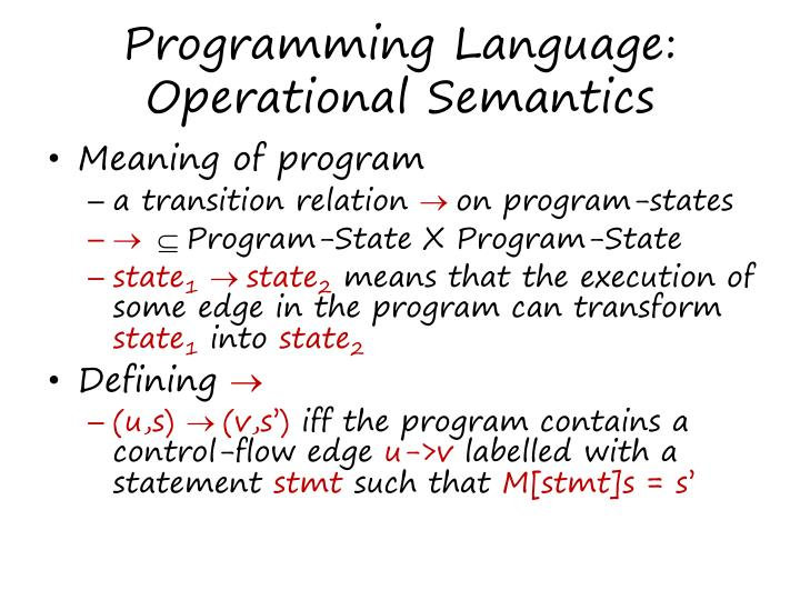 Programming Language: