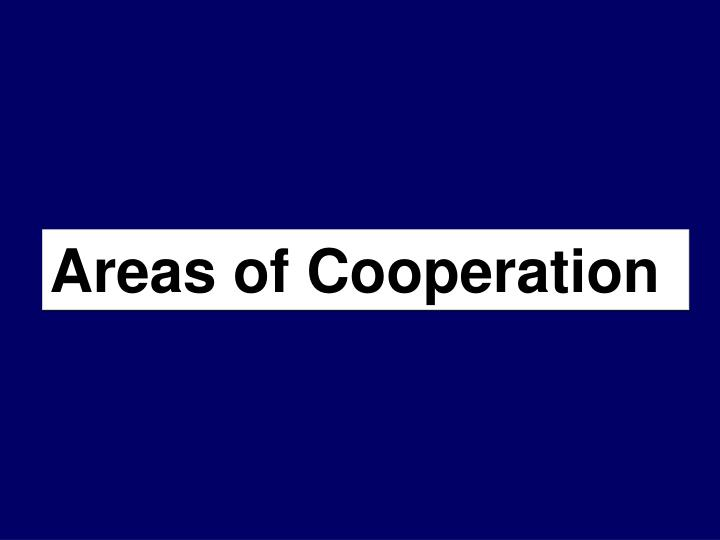 Areas of Cooperation