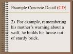 example concrete detail cd
