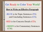 get ready to color your world