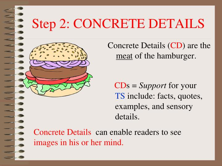 Step 2: CONCRETE DETAILS