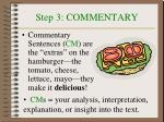 step 3 commentary