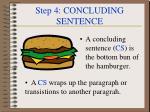 step 4 concluding sentence