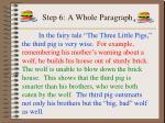 step 6 a whole paragraph