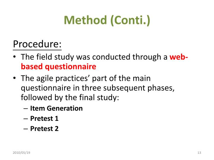 Method (Conti.)