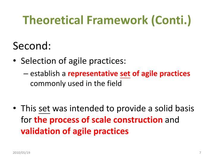 Theoretical Framework (Conti.)