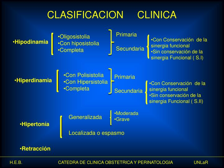 CLASIFICACION     CLINICA
