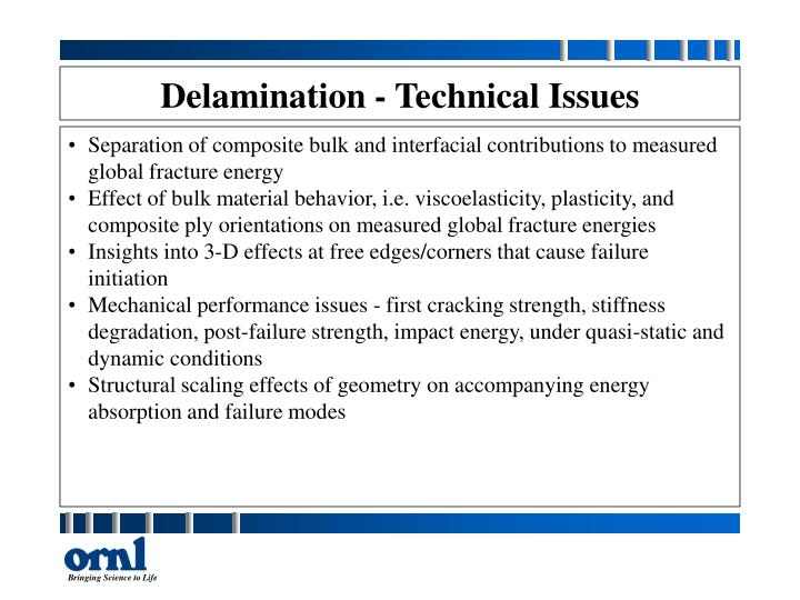 Delamination - Technical Issues