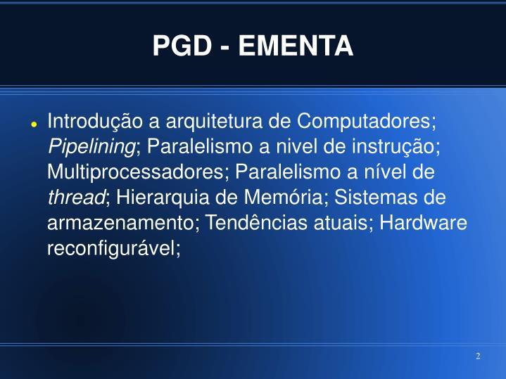 PGD - EMENTA