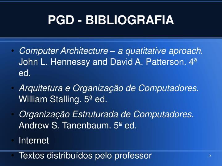 PGD - BIBLIOGRAFIA