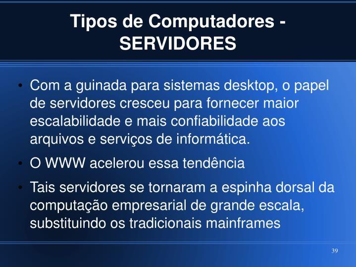 Tipos de Computadores - SERVIDORES