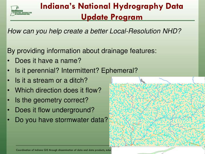 Indiana's National Hydrography Data Update Program