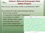 indiana s national hydrography data update program7