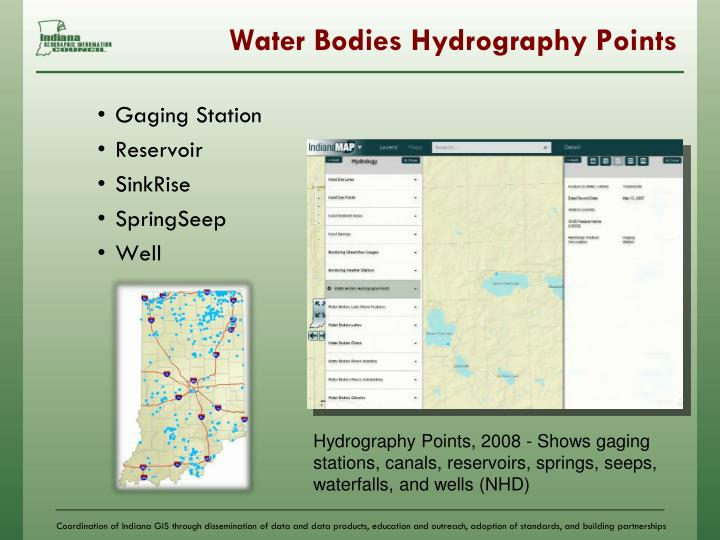Water Bodies Hydrography Points