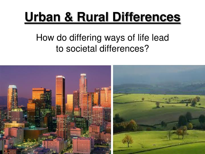 rural area and urban area essay