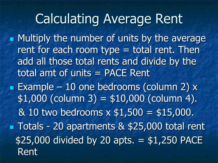 Calculating Average Rent