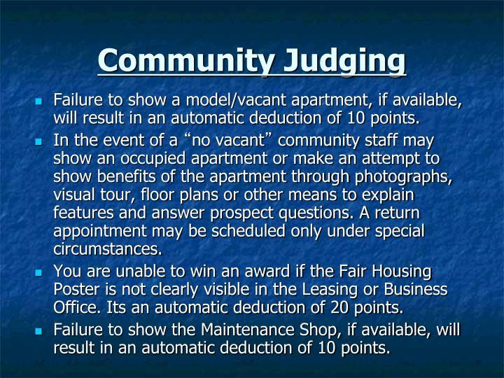 Community Judging