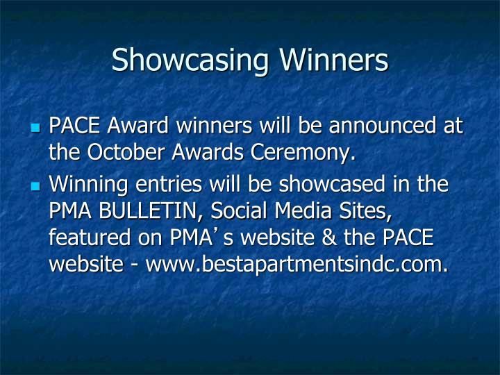 Showcasing Winners