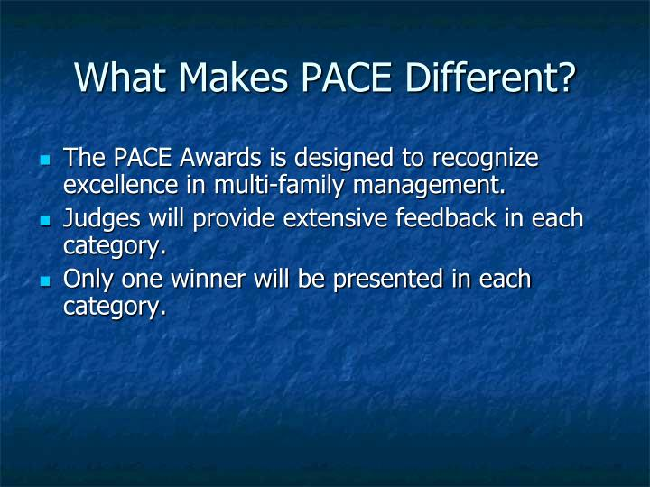 What makes pace different