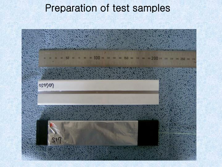 Preparation of test samples