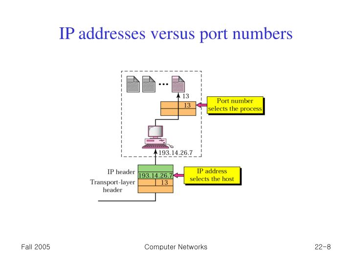 IP addresses versus port numbers