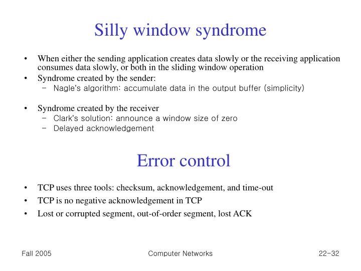 Silly window syndrome