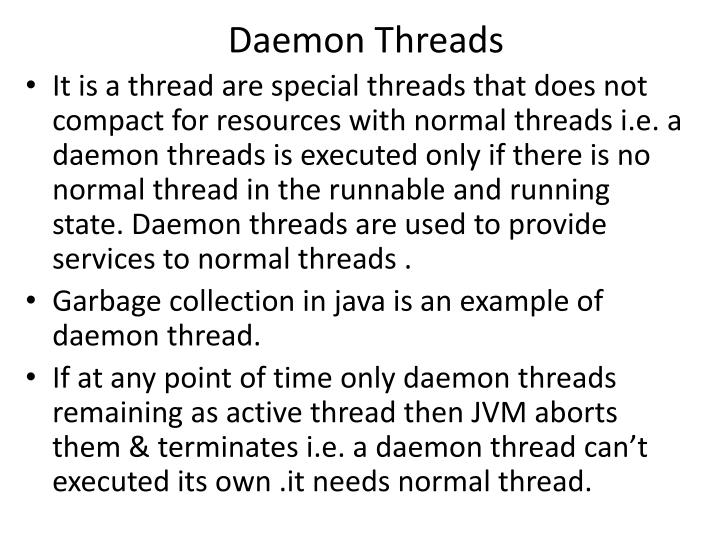Daemon Threads
