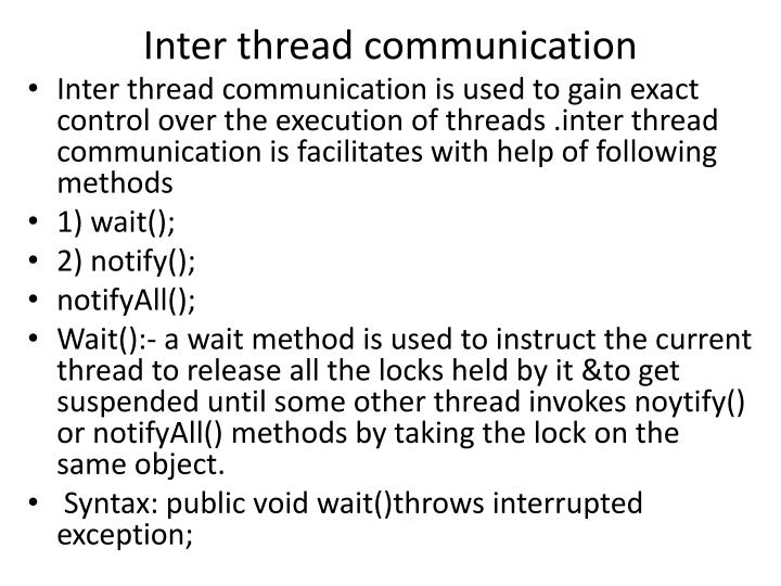 Inter thread communication