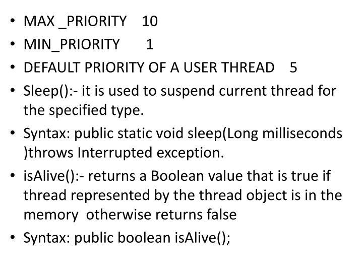 MAX _PRIORITY    10