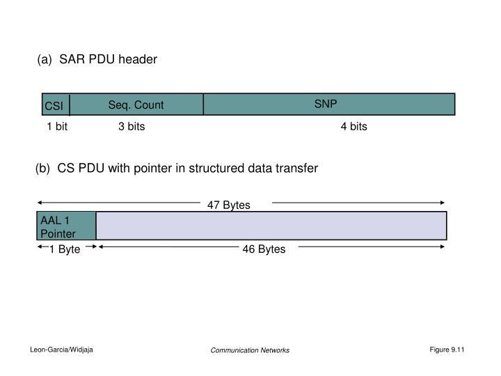 (a)  SAR PDU header