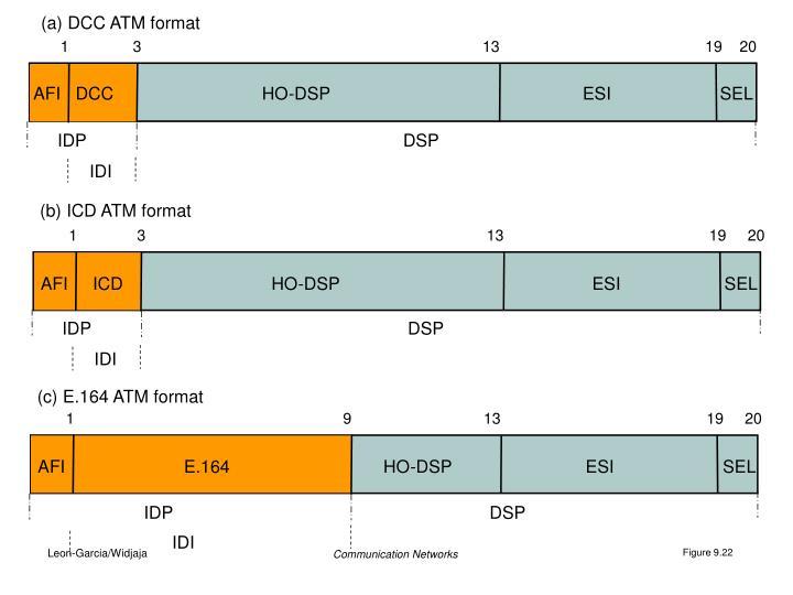 (a) DCC ATM format