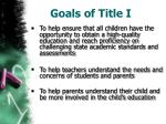 goals of title i