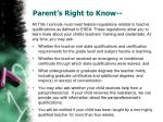 parent s right to know
