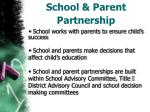 school parent partnership