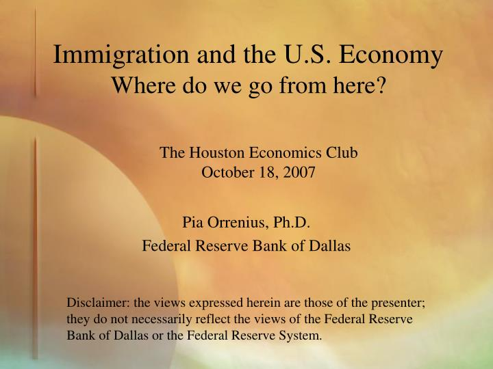 Immigration and the u s economy where do we go from here