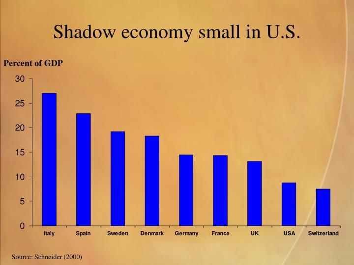Shadow economy small in U.S.