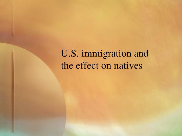 U.S. immigration and